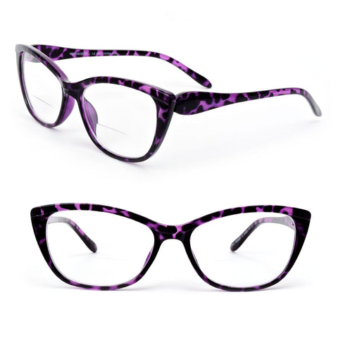 Bifocal Vision Cat Eye Women's Reading Glasses 200-350