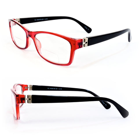 Reading Glasses Bifocal Spring Temple Fashion Readers 150-300