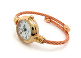Rose Gold Cable Band Geneva Women's Petite Bangle Watch