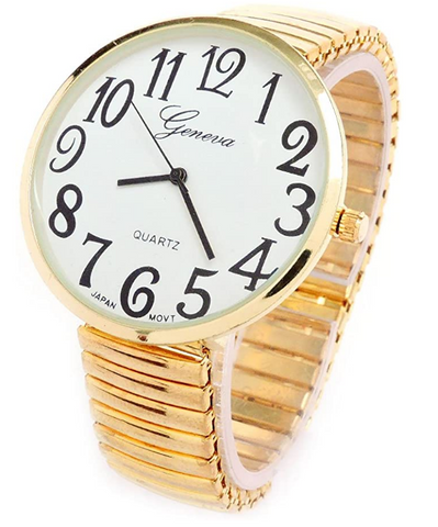 CLEARANCE SALE - Gold Super Large Face Extension Band Watch