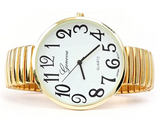 CLEARANCE SALE - Gold Super Large Face Stretch Band Watch