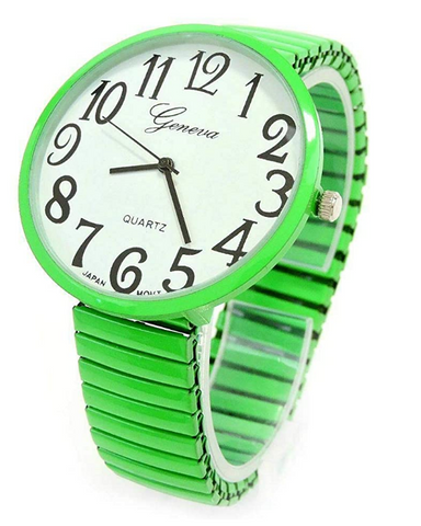 CLEARANCE SALE - Lime Super Large Face Extension Band Watch