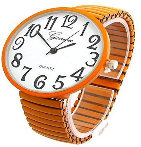 CLEARANCE SALE - Orange Super Large Face Extension Band Watch