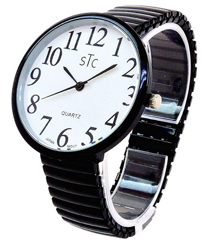 CLEARANCE SALE - Super Large Face Extension Band Black Watch (STC)