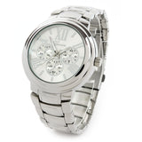 Silver Large Bracelet 3D Dial Heavy and Oversized Women's Boyfriend Style Watch