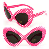 1970'S Retro Womens Fashion Oversize Polka Dot Novelty Cat Eye Sunglasses