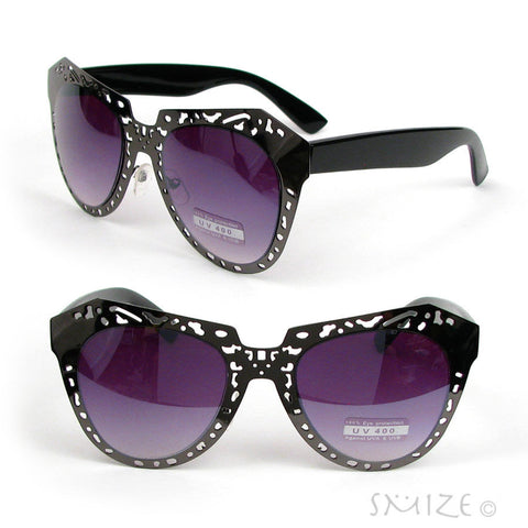 Extravaganza Oversized Metal Frame Women's Fashion Sunglasses