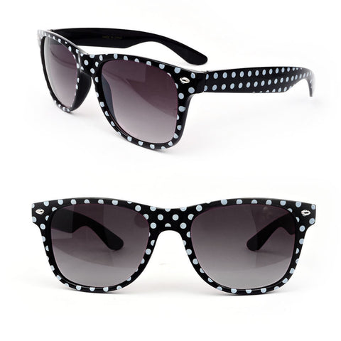 Black White Polka-dot Fashion Classic Frame Design Women's Sunglasses