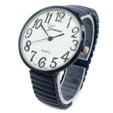 CLEARANCE SALE - Super Large Face Stretch Band Black Watch