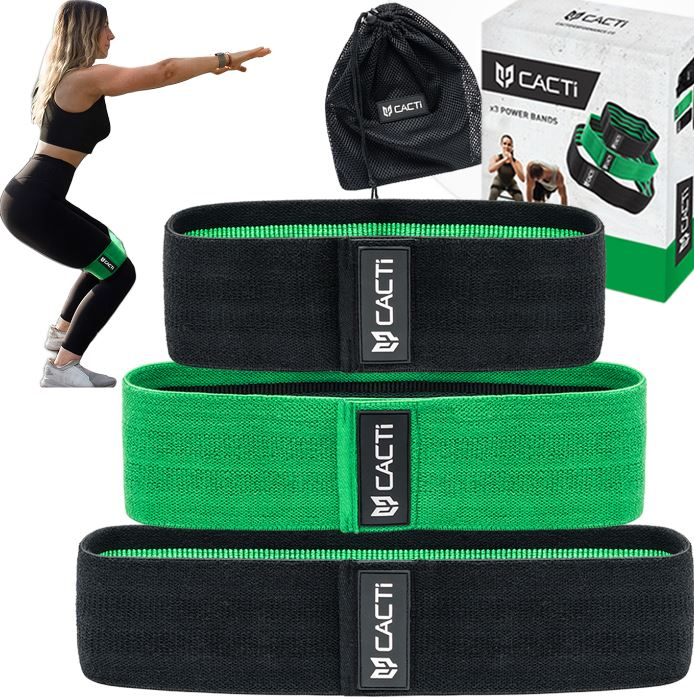 Fabric Resistance Bands Booty Exercise Set – Non Slip & Non-Rolling