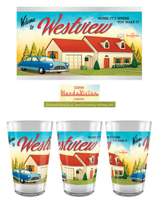 Marvel - 24 oz Tritan - Wanda Vision Westview - 2-Pack