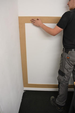 Fitting shaker wall panelling