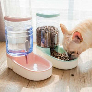 3.8L Automatic Food & Water Feeder with Non-slip Base