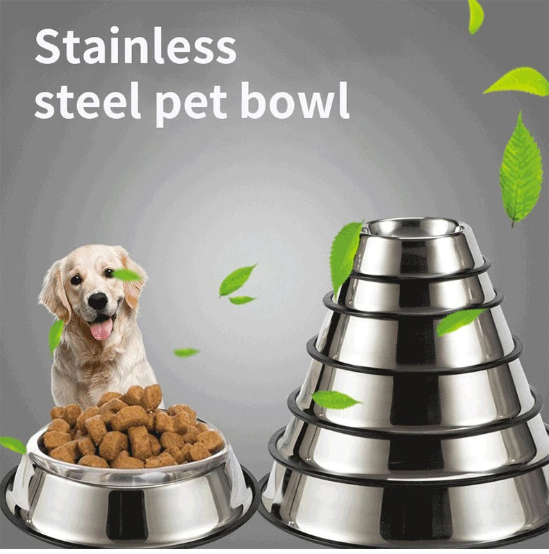 Stainless Steel Pet Dog Bowl Non-slip Durable