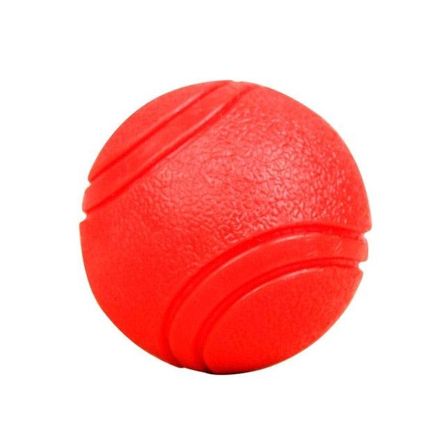 Solid Rubber Pet Dog Ball Training Teeth Chewing Bitting Elastic