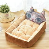 Cartoon Pet Bed Soft Kennel Winter Warm House