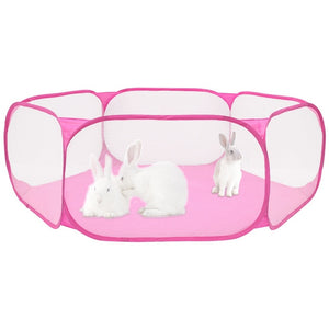 Portable Pet Fence Foldable Small Animal Cage