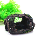 Aquarium Fish Tank Artificial Barrel Resin Ornament Cave