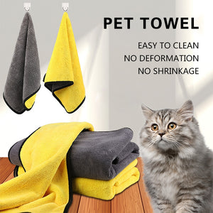 Pet Bath Towel Soft Microfiber Strong Absorbing