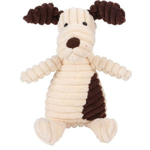 Pet Donkey Shaped Corduroy Chew Toy For Dog With Squeaker Interactive