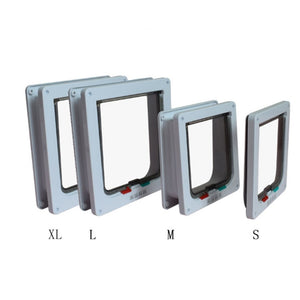 Cat Dog Flap Door with 4 Way Lockable Door