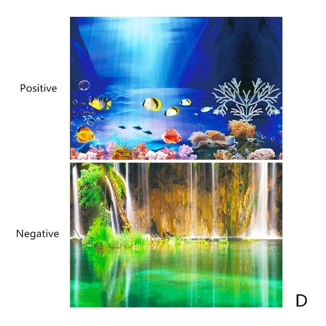 Double-Sided Aquarium Background Poster 30/40/50cm(Height)