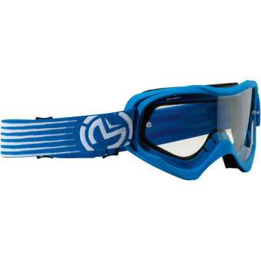 MOOSE RACING SOFTGOODS GOGGLE QUALFR SLASH BL/WH