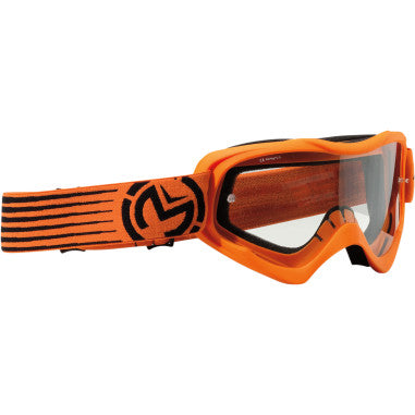 MOOSE RACING SOFTGOODS GOGGLE QUALFR SLASH OR/BK