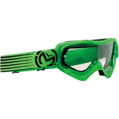 MOOSE RACING SOFTGOODS GOGGLE YT QAL SLASH GN/BK