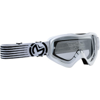 MOOSE RACING SOFTGOODS GOGGLE QUALFR SLASH WH/BK