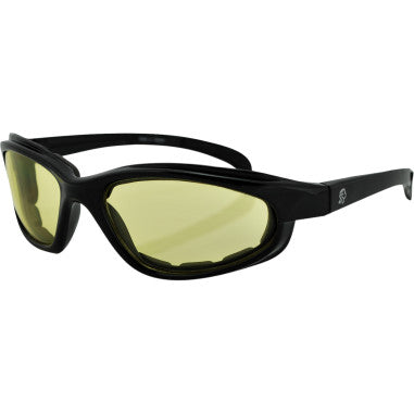 ZAN HEADGEAR ARIZONA SHINY BLK FRAME YELLOW LENS