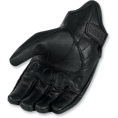 ICON GLOVE WM PURSUIT CE BK SM