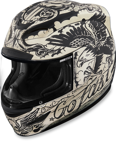 ICON HELMET AM SCRAWL