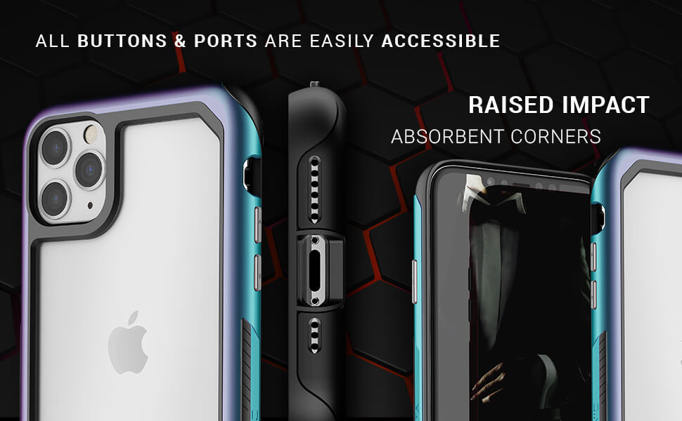 Atomic Slim iPhone 11 Pro Max Cover with Metal Aluminum Bumper and Military Grade Shockproof Protection Design