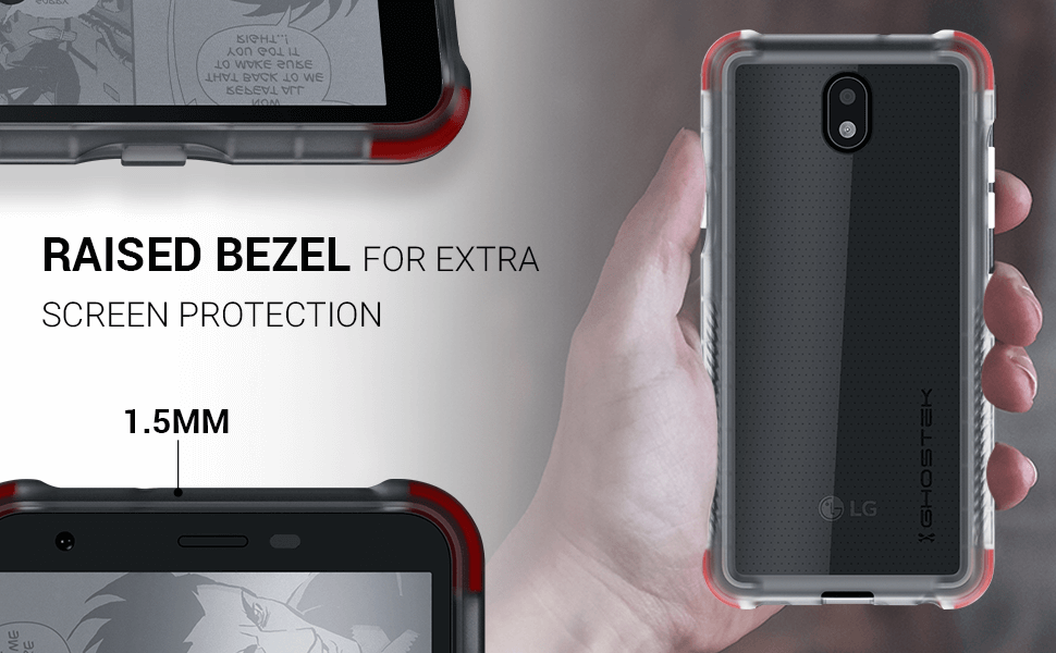 LG X2 Clear Protective Phone Case