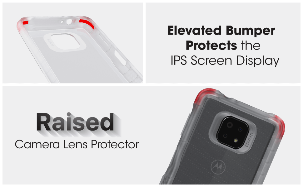 Covert Moto G Power Clear Protective Case