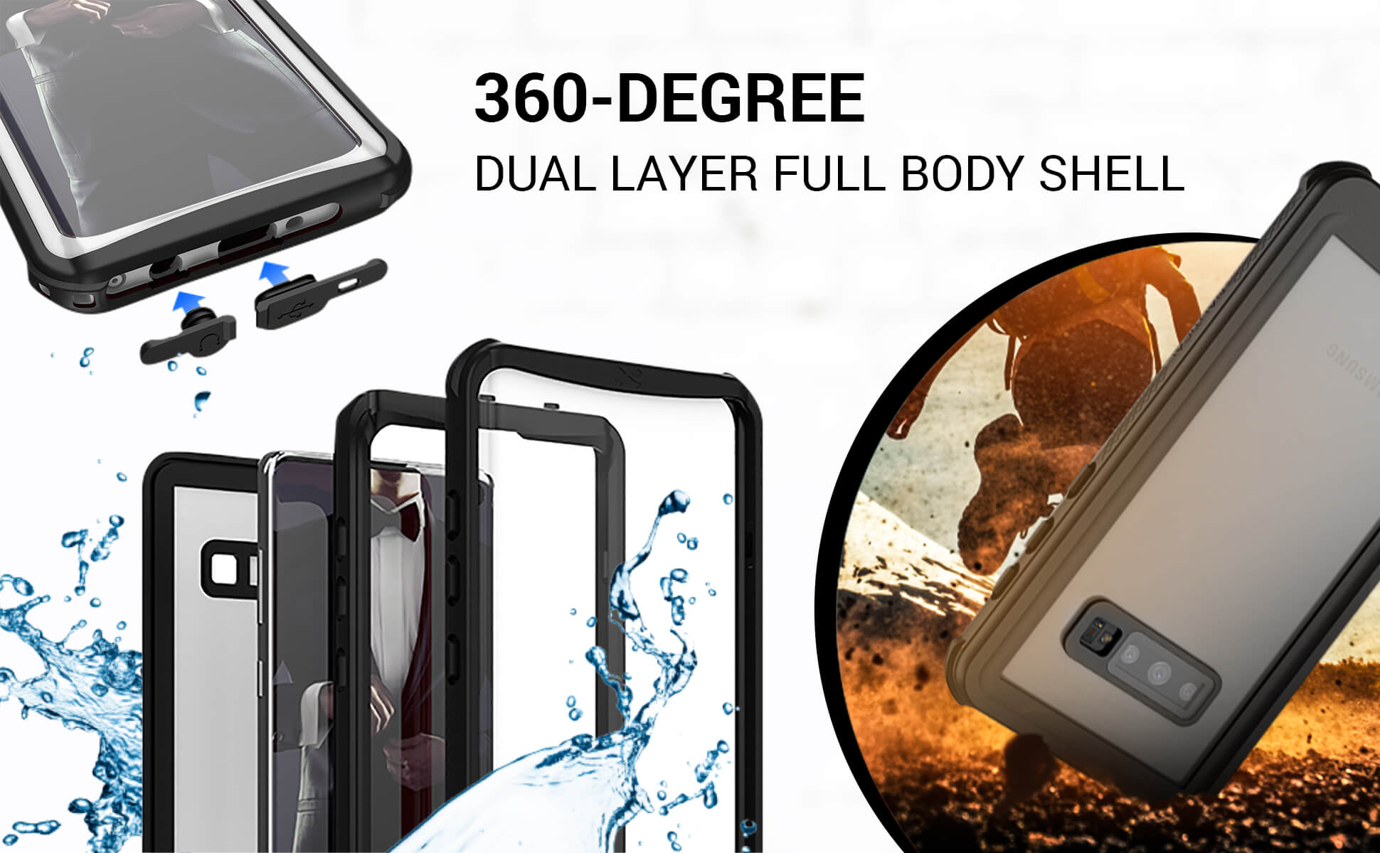 Galaxy S10e Waterproof Phone Case