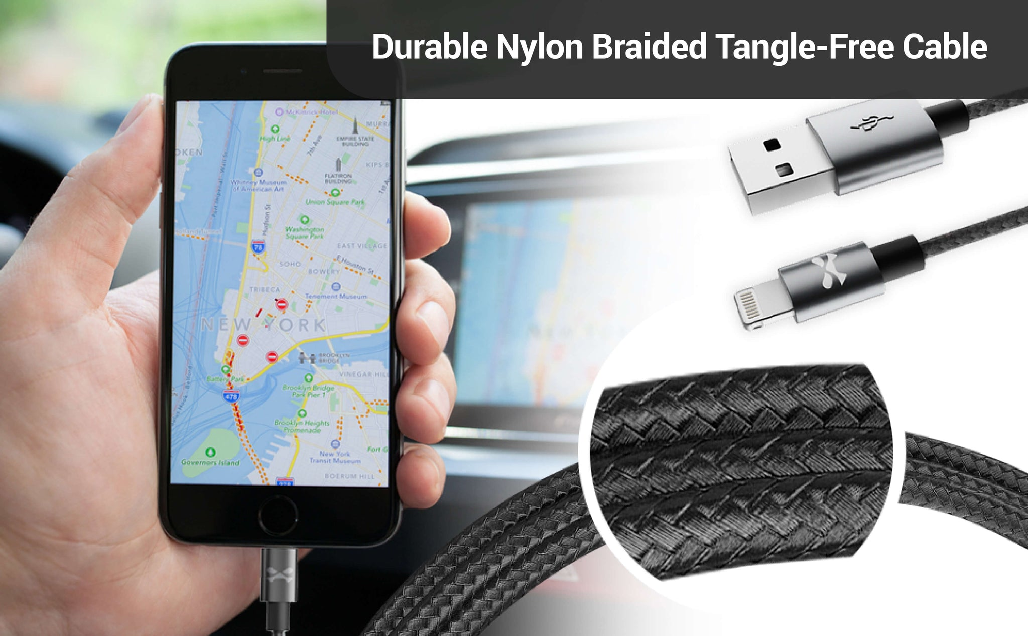 Long Tangle Free Charging Cable