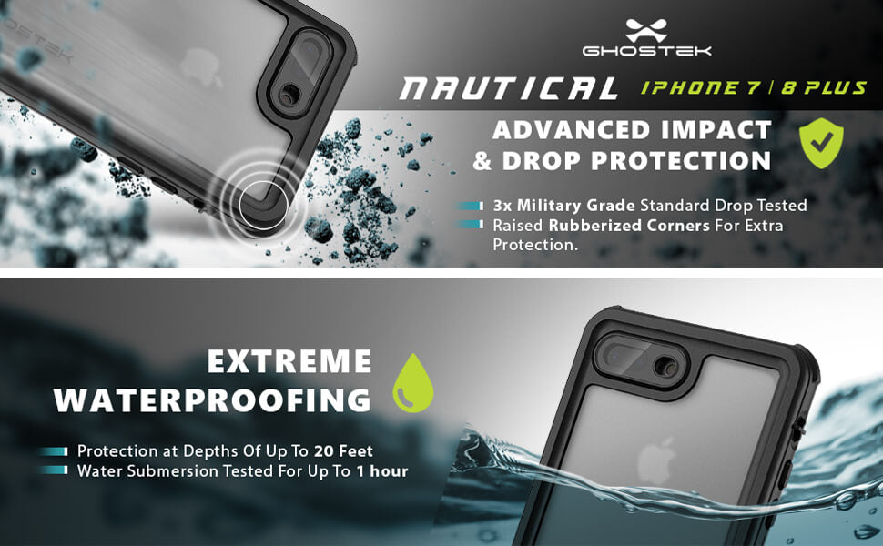 Nautical iPhone 8 Plus Waterproof Phone Case