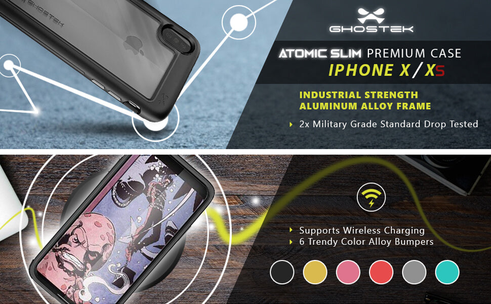 iPhone X Protective Metal Phone Case