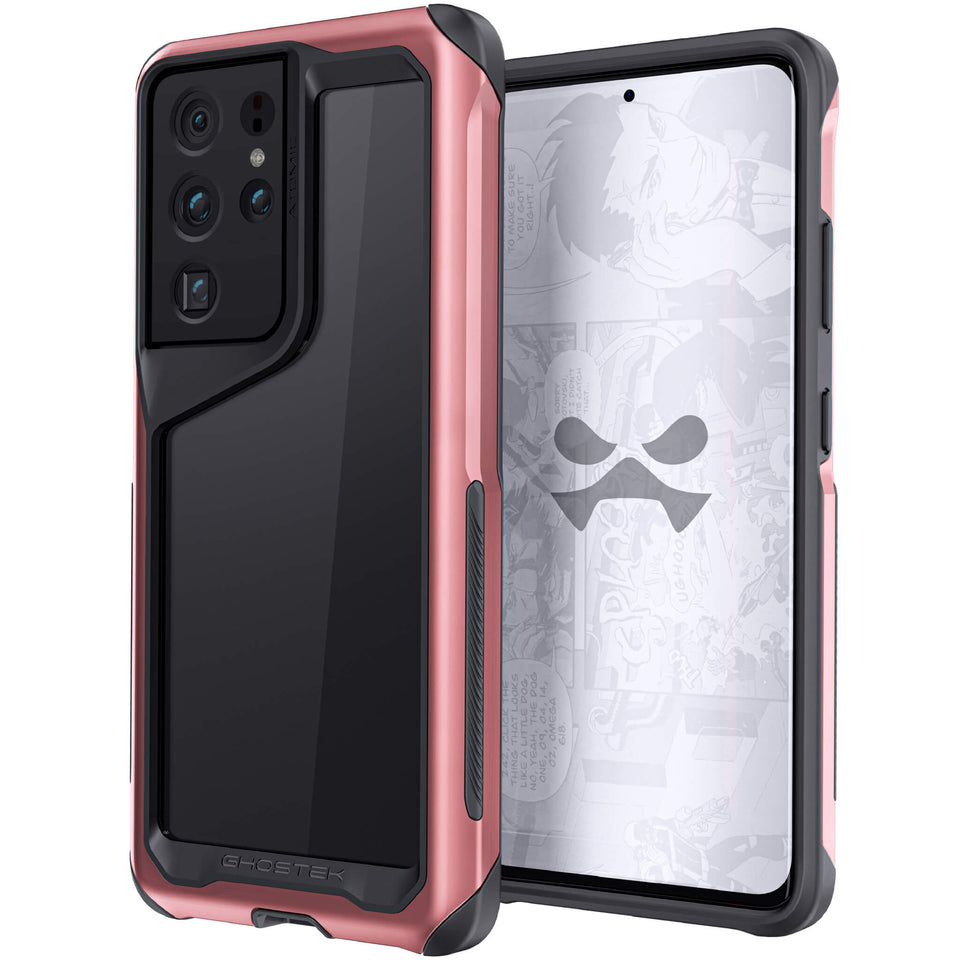 S21 Ultra 5G Phantom Pink Clear Case