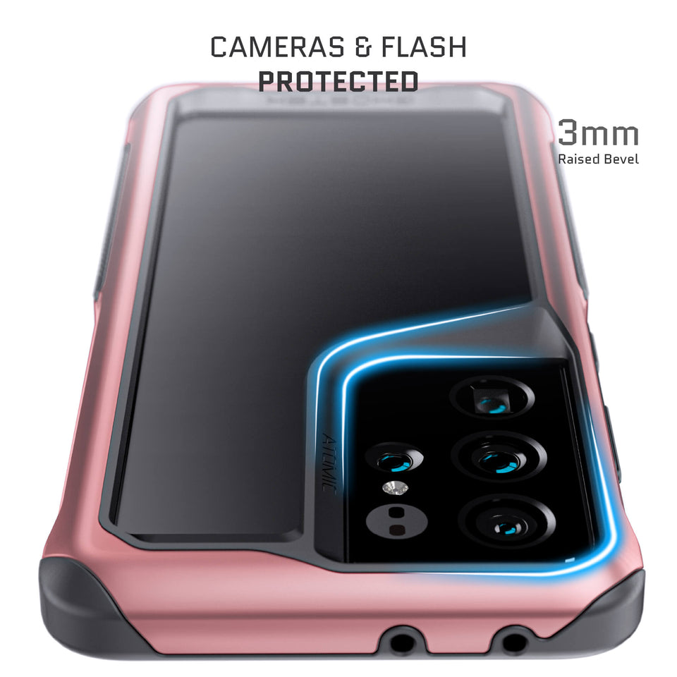 Galaxy S21 Ultra Phantom Pink Metal Case