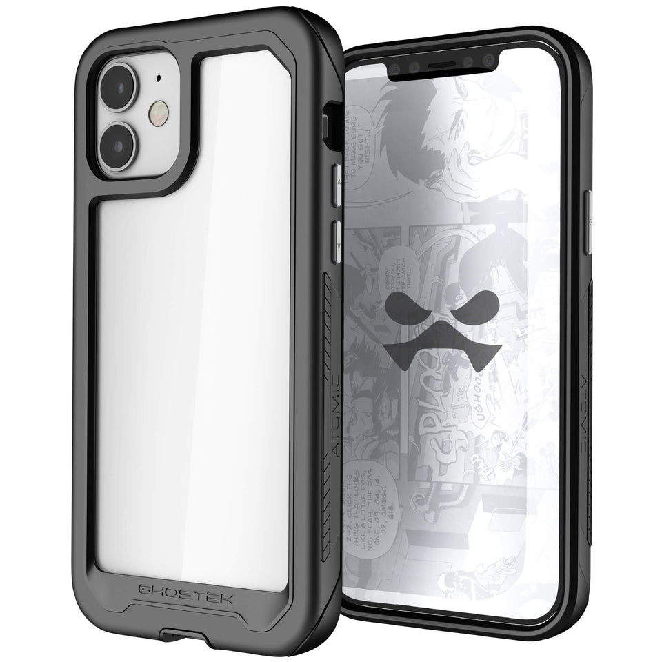 iPhone 12 Black Protective Clear Phone Cases and Covers