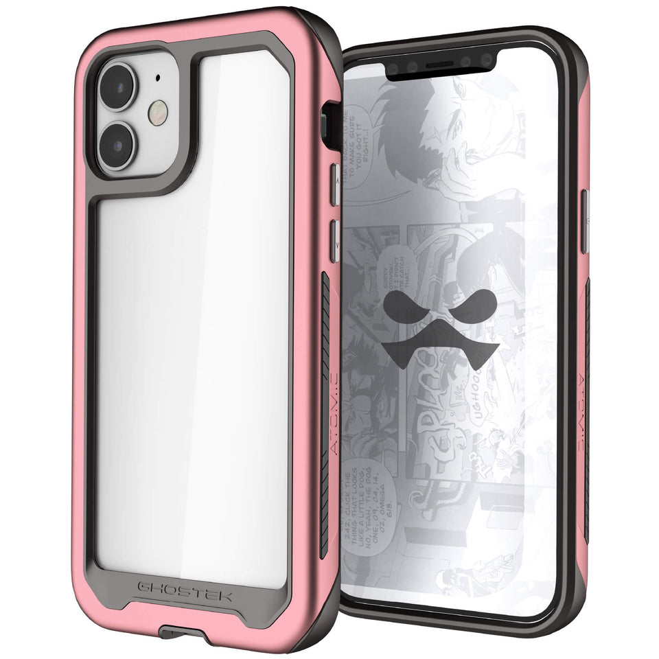 iPhone 12 Pink Protective Clear Phone Cases and Covers