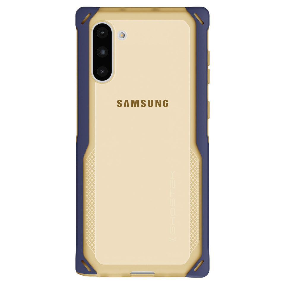 Galaxy Note 10 Clear Gold Blue Case