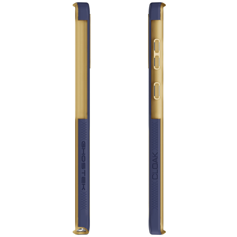 Galaxy Note 10 Blue Gold Case