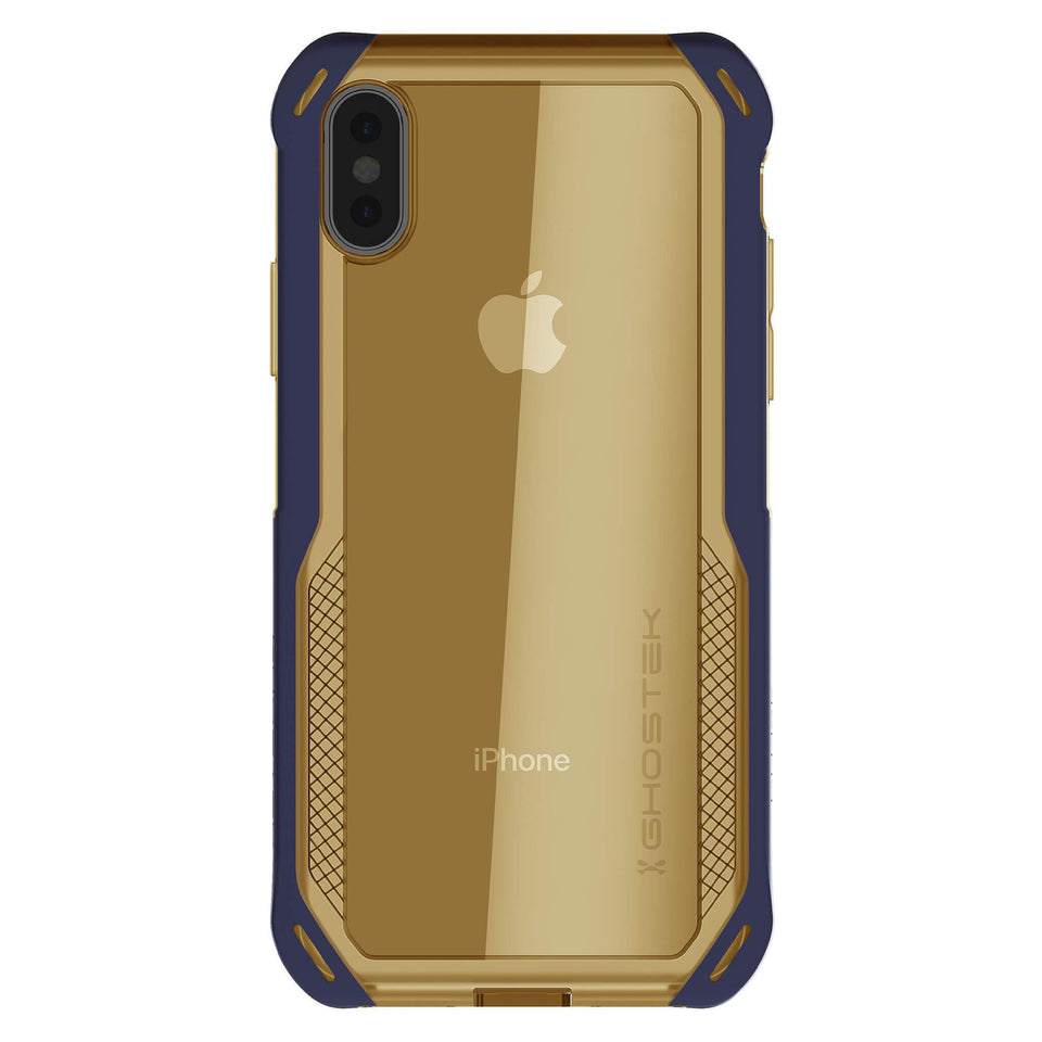 iPhone XS Blue Gold Phone Case