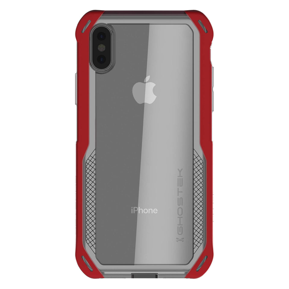 iPhone XS Clear Red Phone Case