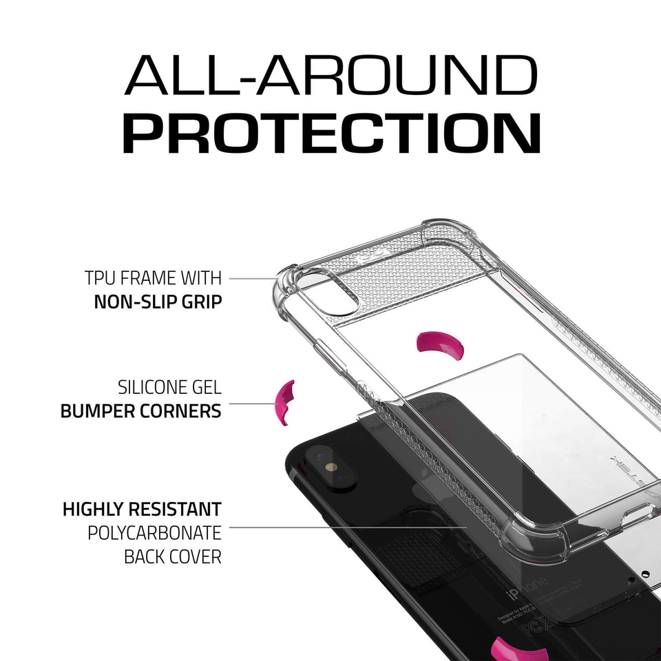 iPhone XS Pink Clear Phone Case