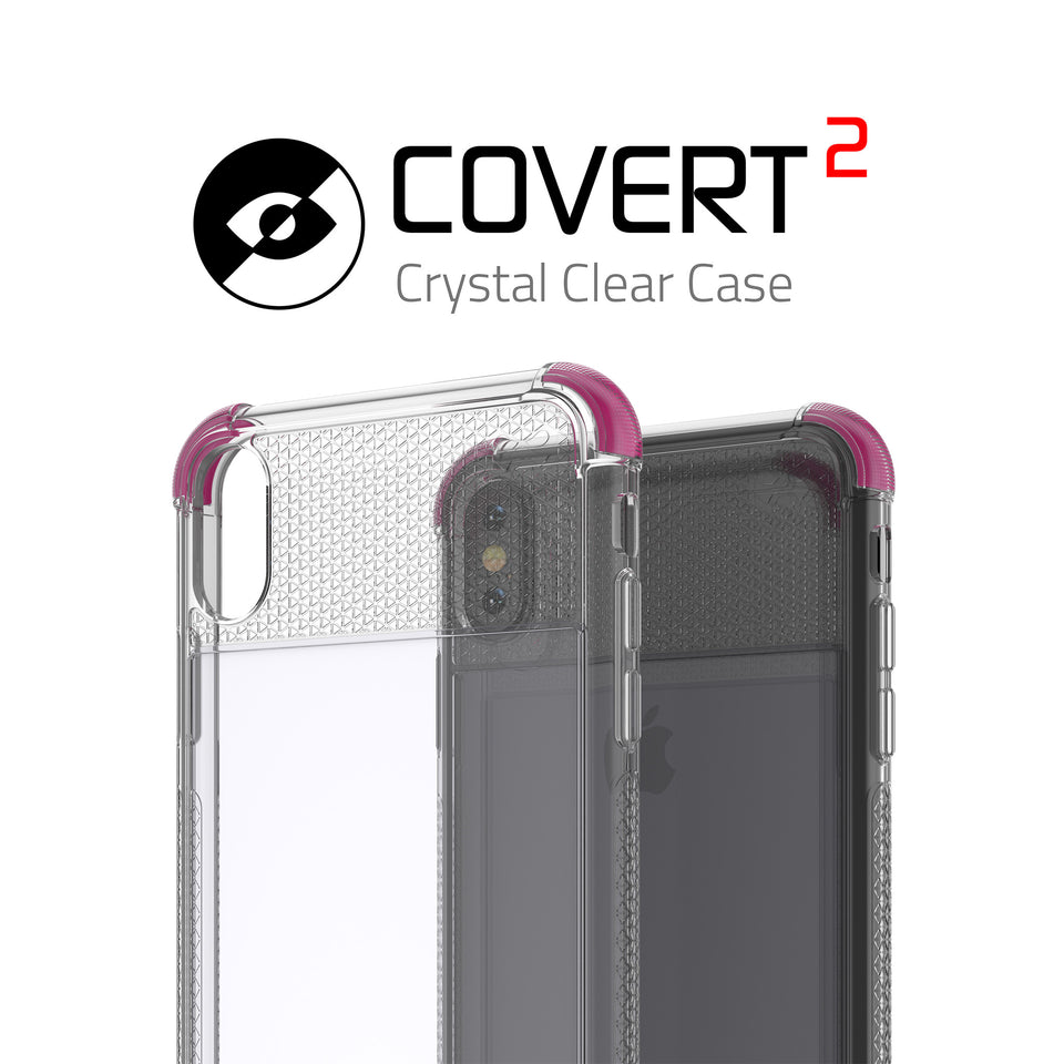 iPhone XS Max Pink Clear Phone Case